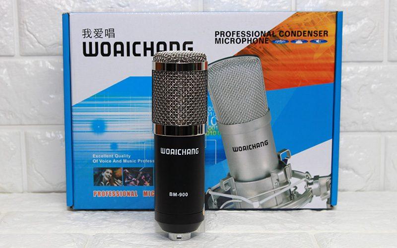 micro thu âm bm-900 woaichang - mic hát karaoke live stream - bộ sản phẩm