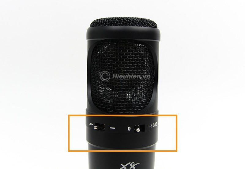 micro thu âm condenser ami x8 cao cấp, hát live stream chuyên nghiệp - tần số