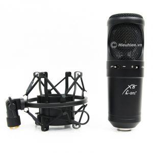 Micro Thu Âm Condenser AMI X8 Cao Cấp, Hát Live Stream Chuyên Nghiệp 0