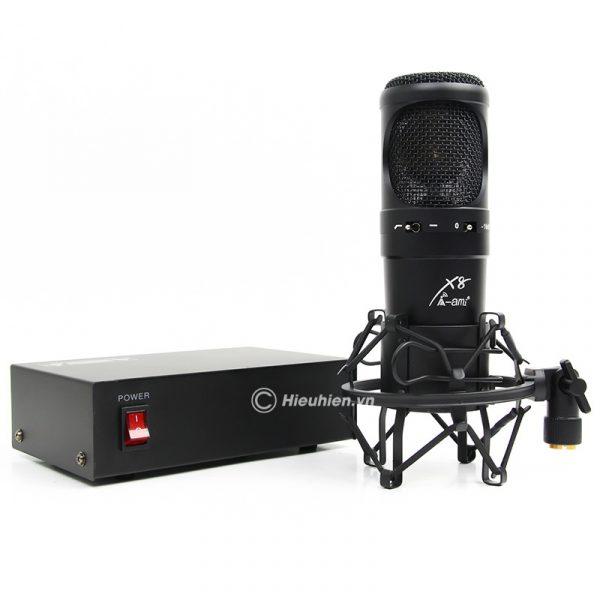 Micro Thu Âm Condenser AMI X8 Cao Cấp, Hát Live Stream Chuyên Nghiệp 01