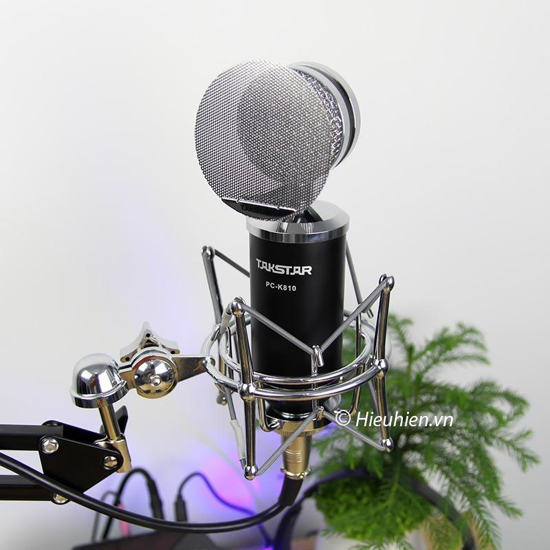 Takstar PC-K810 - Micro Thu Âm Condenser Cao Cấp, Hát Live Stream 08