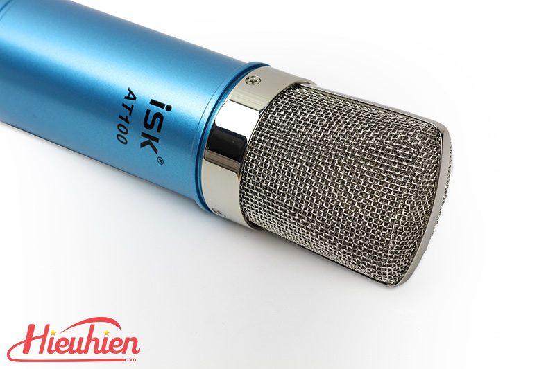 micro thu âm isk at100 - mic hát karaoke, hát live stream - đầu micro