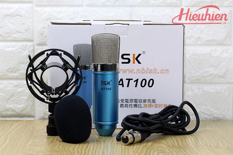 micro thu âm isk at100 - mic hát karaoke, hát live stream - bộ sản phẩm