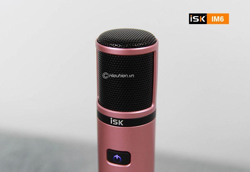 micro thu âm isk im6 hát live stream, karaoke không cần sound card - đầu micro