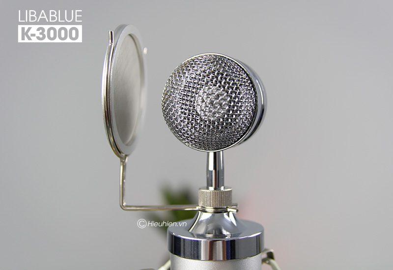 micro thu âm libablue k3000 hát live stream, hát karaoke giá rẻ - đầu micro