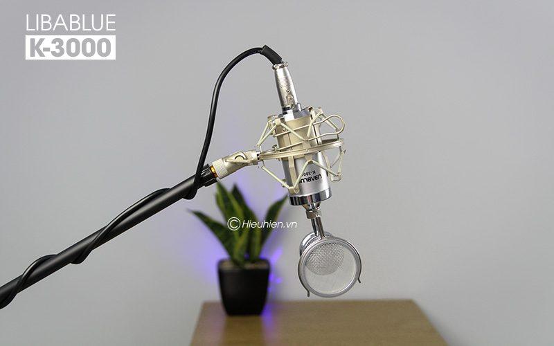 micro thu âm libablue k3000 hát live stream, hát karaoke giá rẻ - giá đỡ