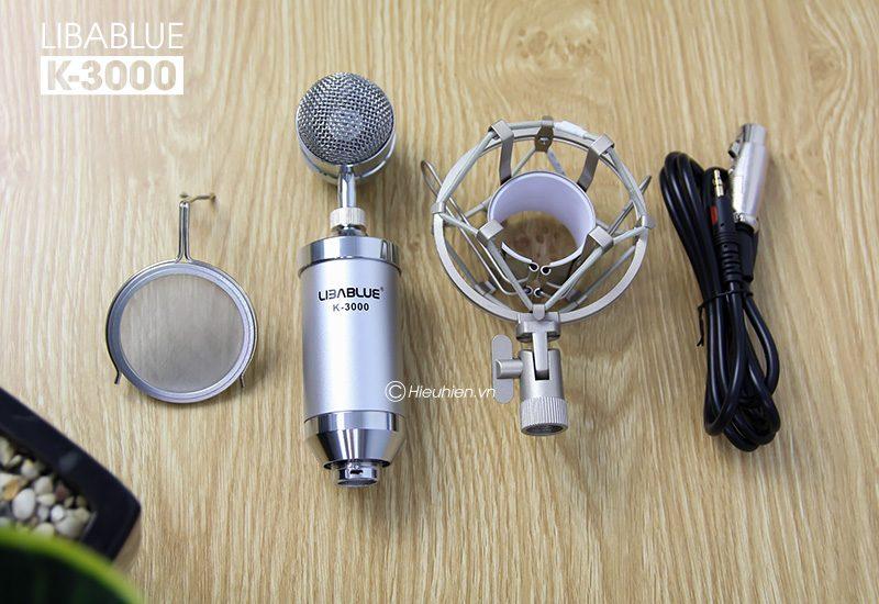 micro thu âm libablue k3000 hát live stream, hát karaoke giá rẻ - phụ kiện