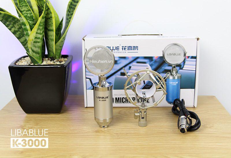 micro thu âm libablue k3000 hát live stream, hát karaoke giá rẻ - bộ sản phẩm