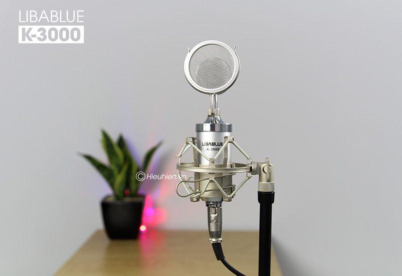 micro thu âm libablue k3000 hát live stream, hát karaoke giá rẻ - mặt trước