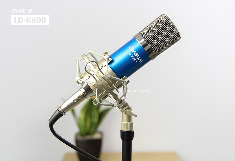 micro thu âm libablue ld-k600 hát live stream, hát karaoke giá rẻ - giá đỡ