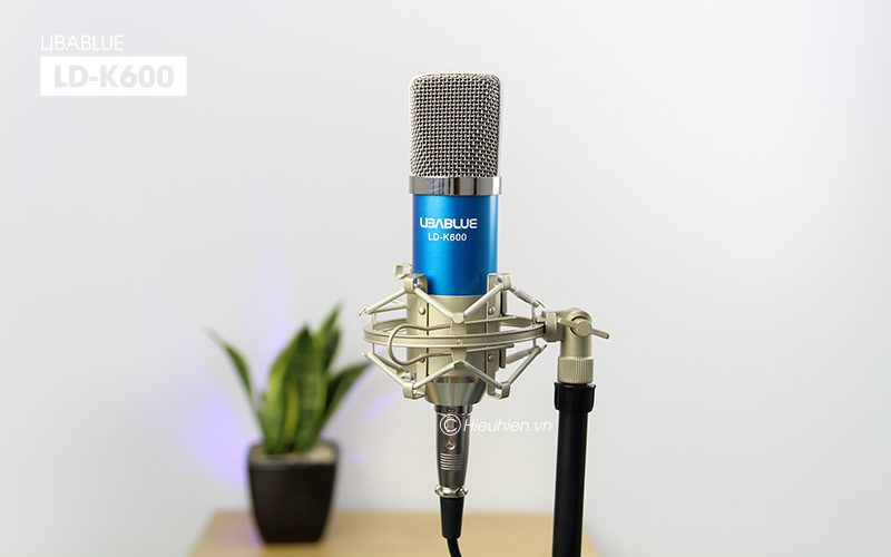 micro thu âm libablue ld-k600 hát live stream, hát karaoke giá rẻ - shockmount