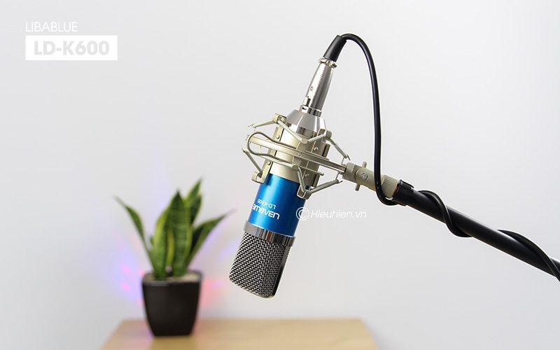 micro thu âm libablue ld-k600 hát live stream, hát karaoke giá rẻ - giá mic