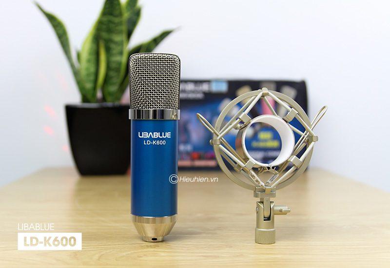 micro thu âm libablue ld-k600 hát live stream, hát karaoke giá rẻ - mic và shockmount
