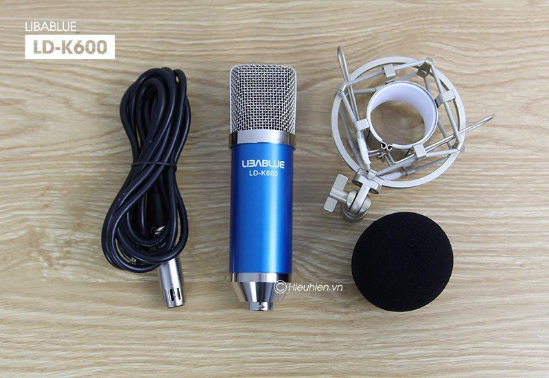 micro thu âm libablue ld-k600 hát live stream, hát karaoke giá rẻ - bộ sản phẩm