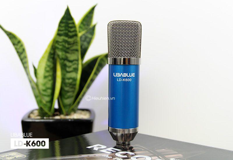 micro thu âm libablue ld-k600 hát live stream, hát karaoke giá rẻ - mặt trước
