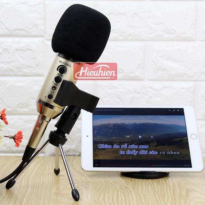 Micro live Mk-F500TL không cần soundcard thu âm karaoke 0