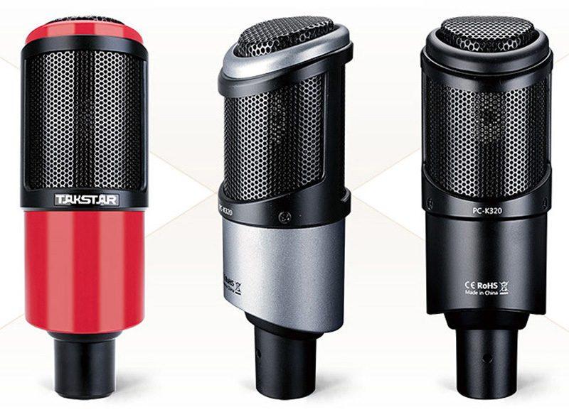 takstar pc-k320 - micro thu âm, mic hát karaoke, live stream - 3 màu