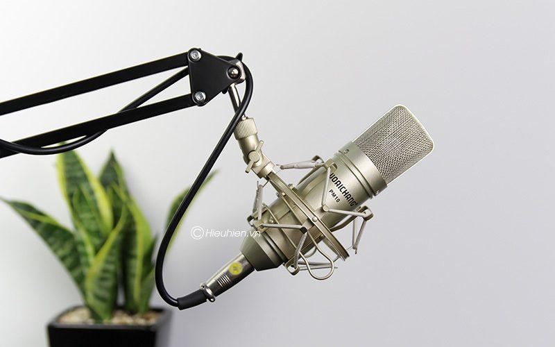 micro thu âm woaichang pm10 hát karaoke, hát live stream đầy hấp dẫn - giá đỡ