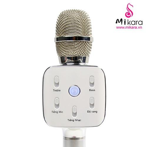 Mikara S10 Plus (Bạc) - Micro Hát Karaoke Kèm Loa Bluetooth Cao Cấp 02