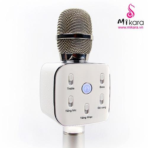 Mikara S10 Plus (Bạc) - Micro Hát Karaoke Kèm Loa Bluetooth Cao Cấp 03
