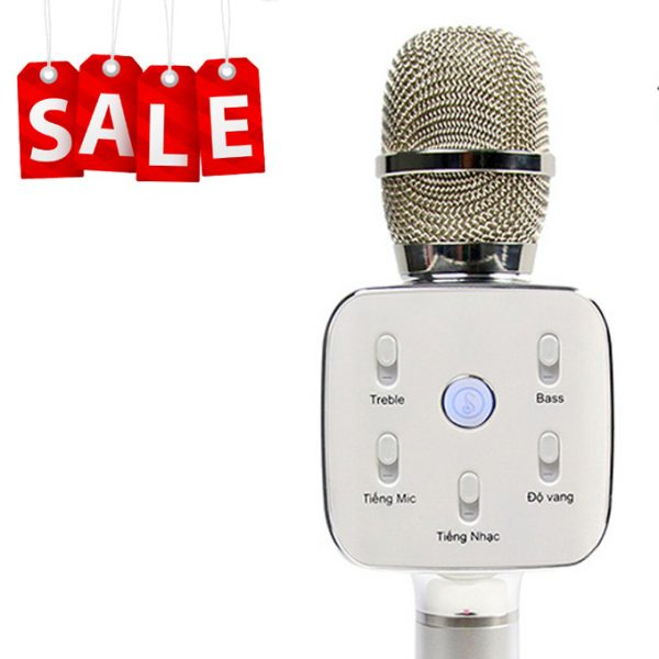 Mikara S10 Plus (Bạc) - Micro Hát Karaoke Kèm Loa Bluetooth Cao Cấp 0