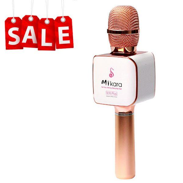 Mikara S10 Plus (Vàng Hồng) - Micro Karaoke Kèm Loa Bluetooth Cao Cấp, Hát Cực Hay 0