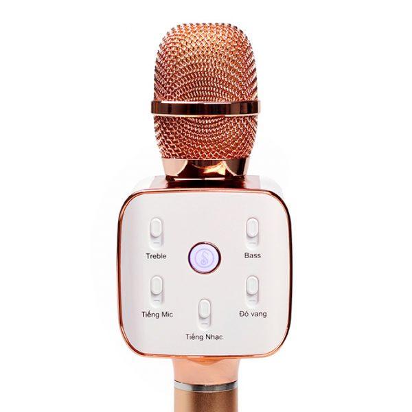Mikara S10 Plus (Vàng Hồng) - Micro Karaoke Kèm Loa Bluetooth Cao Cấp, Hát Cực Hay 04