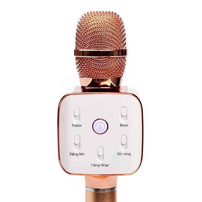 mikara s10 plus - micro karaoke kem loa bluetooth cao cap, hat karaoke cuc hay 03