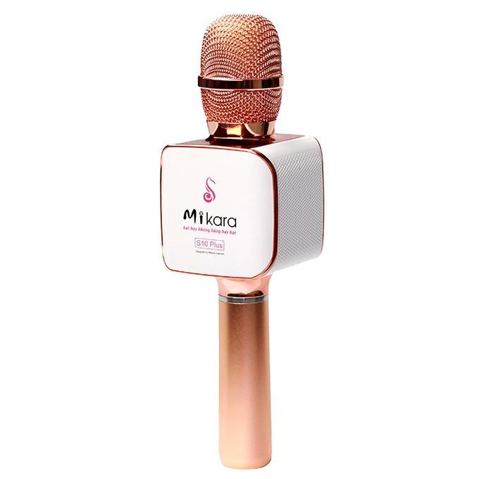 Mikara S10 Plus (Vàng Hồng) - Micro Karaoke Kèm Loa Bluetooth Cao Cấp, Hát Cực Hay 02