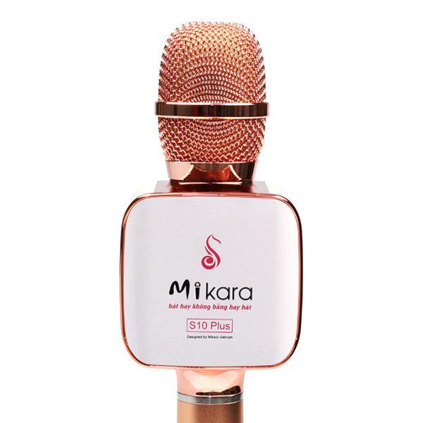 Mikara S10 Plus (Vàng Hồng) - Micro Karaoke Kèm Loa Bluetooth Cao Cấp, Hát Cực Hay 03