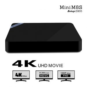mini m8s android tv box giá rẻ, chip amlogic s905, android 5.1