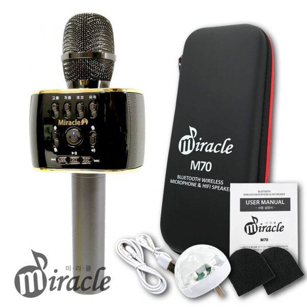 miracle m70 - micro karaoke bluetooth hàn quốc cao cấp, hát cực hay