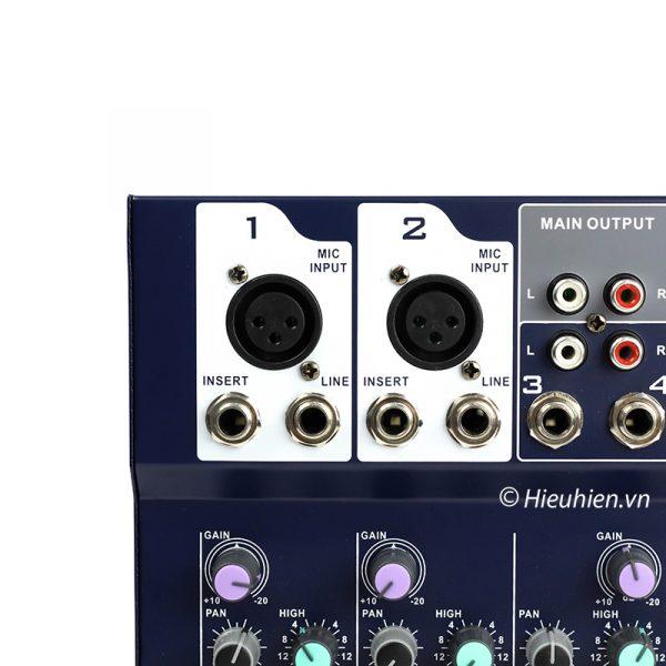 Mixer KAIKA F4-USB - Mixer thu âm, hát live stream, karaoke giá rẻ 01