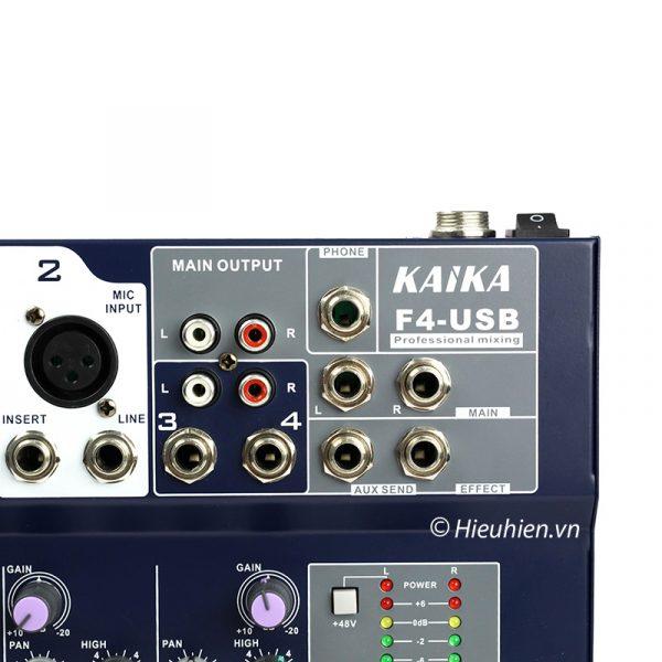 Mixer KAIKA F4-USB - Mixer thu âm, hát live stream, karaoke giá rẻ 02