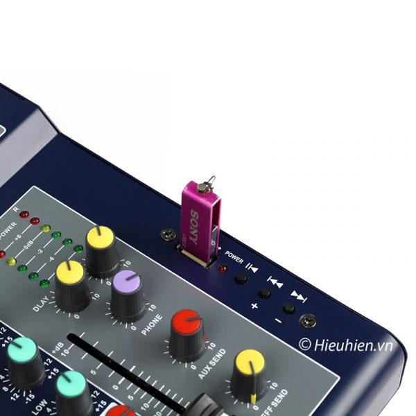 Mixer KAIKA F4-USB - Mixer thu âm, hát live stream, karaoke giá rẻ 03