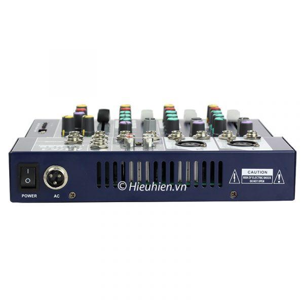 Mixer KAIKA F4-USB - Mixer thu âm, hát live stream, karaoke giá rẻ 06