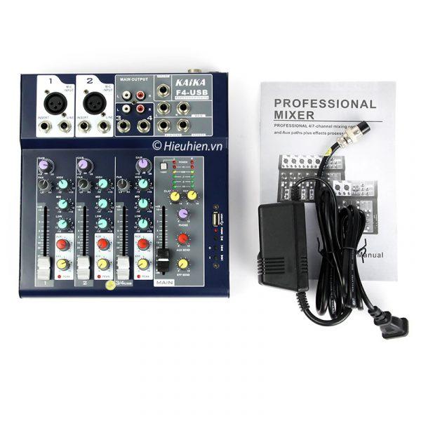 Mixer KAIKA F4-USB - Mixer thu âm, hát live stream, karaoke giá rẻ 07