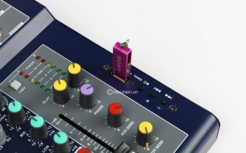 mixer thu am gia re kaika f4 usb - hat live stream, karaoke gia dinh 11
