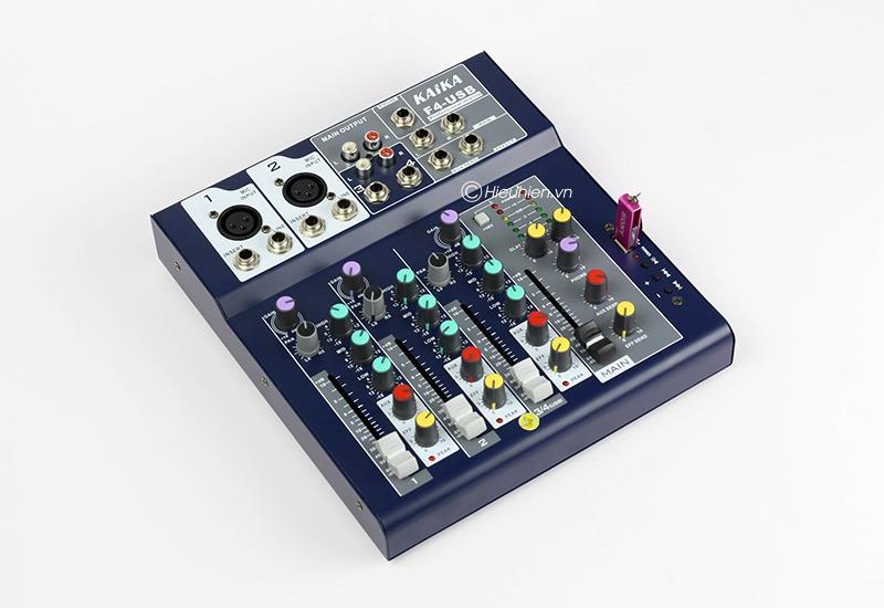 mixer thu am gia re kaika f4 usb - hat live stream, karaoke gia dinh 14