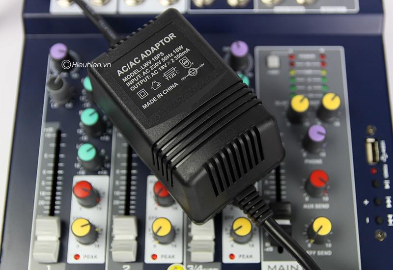 mixer thu am gia re kaika f4 usb - hat live stream, karaoke gia dinh 18