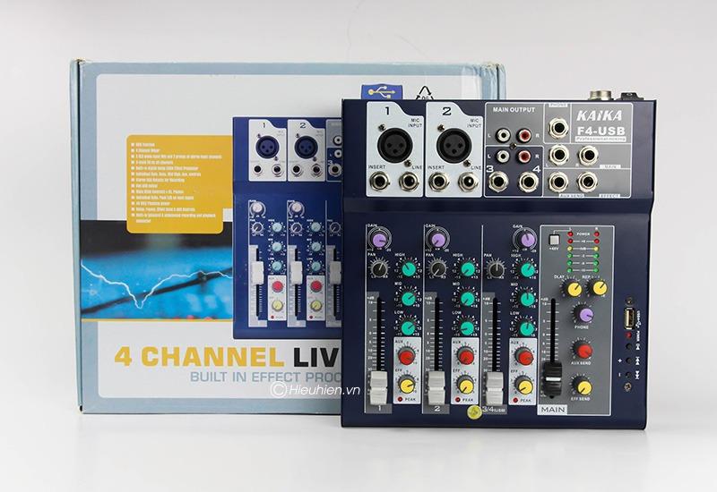 mixer thu am gia re kaika f4 usb - hat live stream, karaoke gia dinh 19