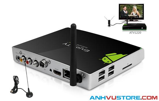 Ăng-ten Android TV Box Mygica ATV1220 Dual Core - Hỗ trợ thu truyền hình số mặt đất DVB-T2