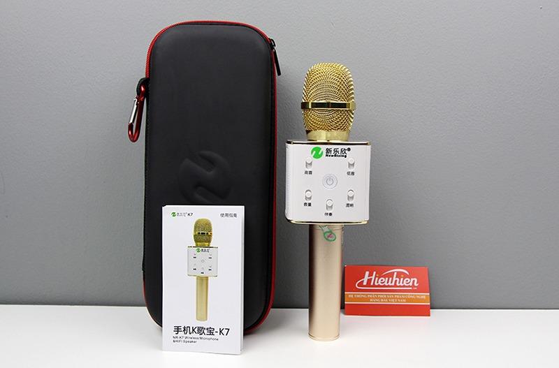 New Rixing NR-K7 - Micro karaoke kèm loa bluetooth 3 trong 1 - hình 01