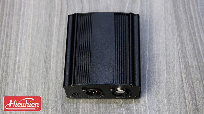 nguồn phantom 48v cho micro thu âm - mặt trên