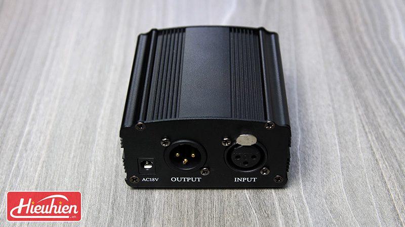nguồn phantom 48v cho micro thu âm - cổng xlr