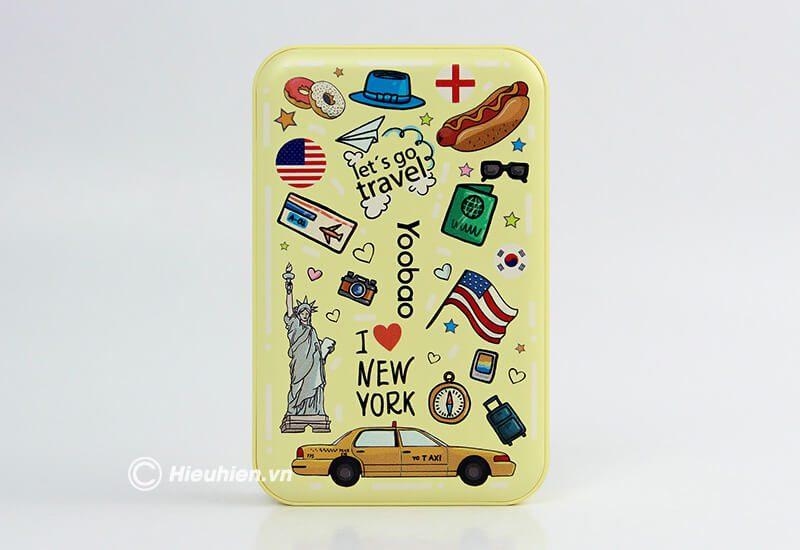 pin sạc dự phòng 10000mah new york series yoobao m5 - màu vàng