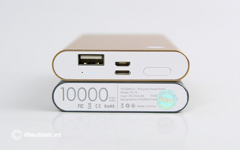 pin sạc dự phòng 10000mah yoobao pl10 - kích thước mỏng