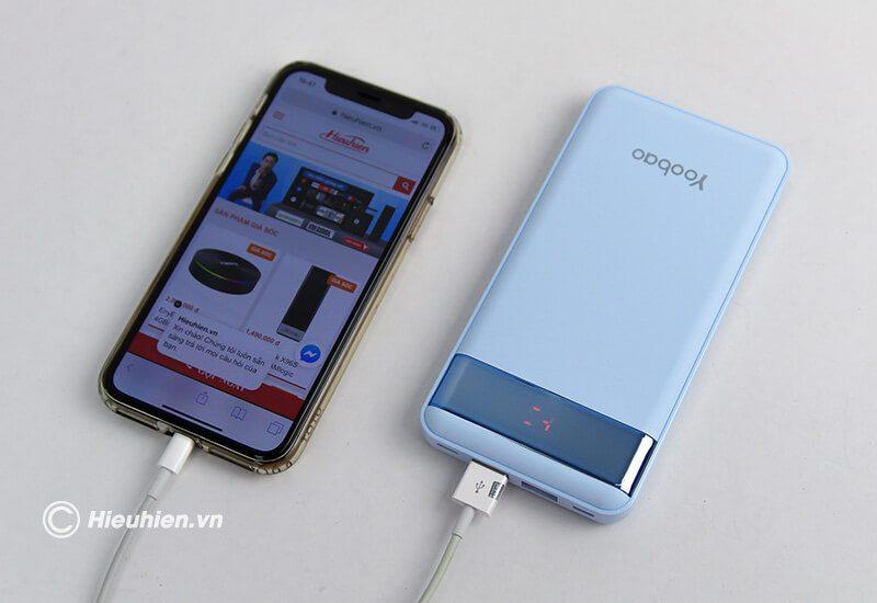 pin sạc dự phòng 12000mah yoobao led power bank pl12 - sạc điện thoại