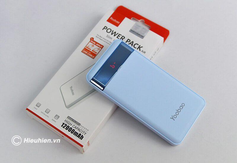 pin sạc dự phòng 12000mah yoobao led power bank pl12 - hộp