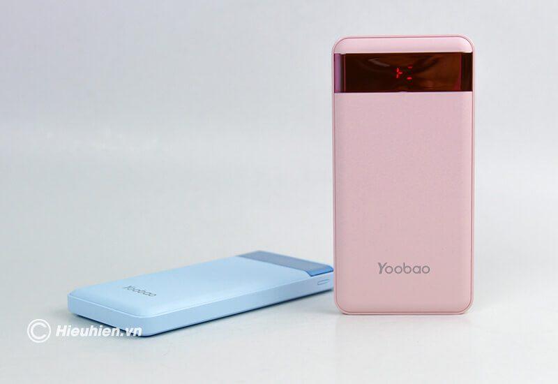 pin sạc dự phòng 12000mah yoobao led power bank pl12 - màn hình led
